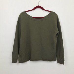 ASOS Army Green Cropped Sweatshirt size 4